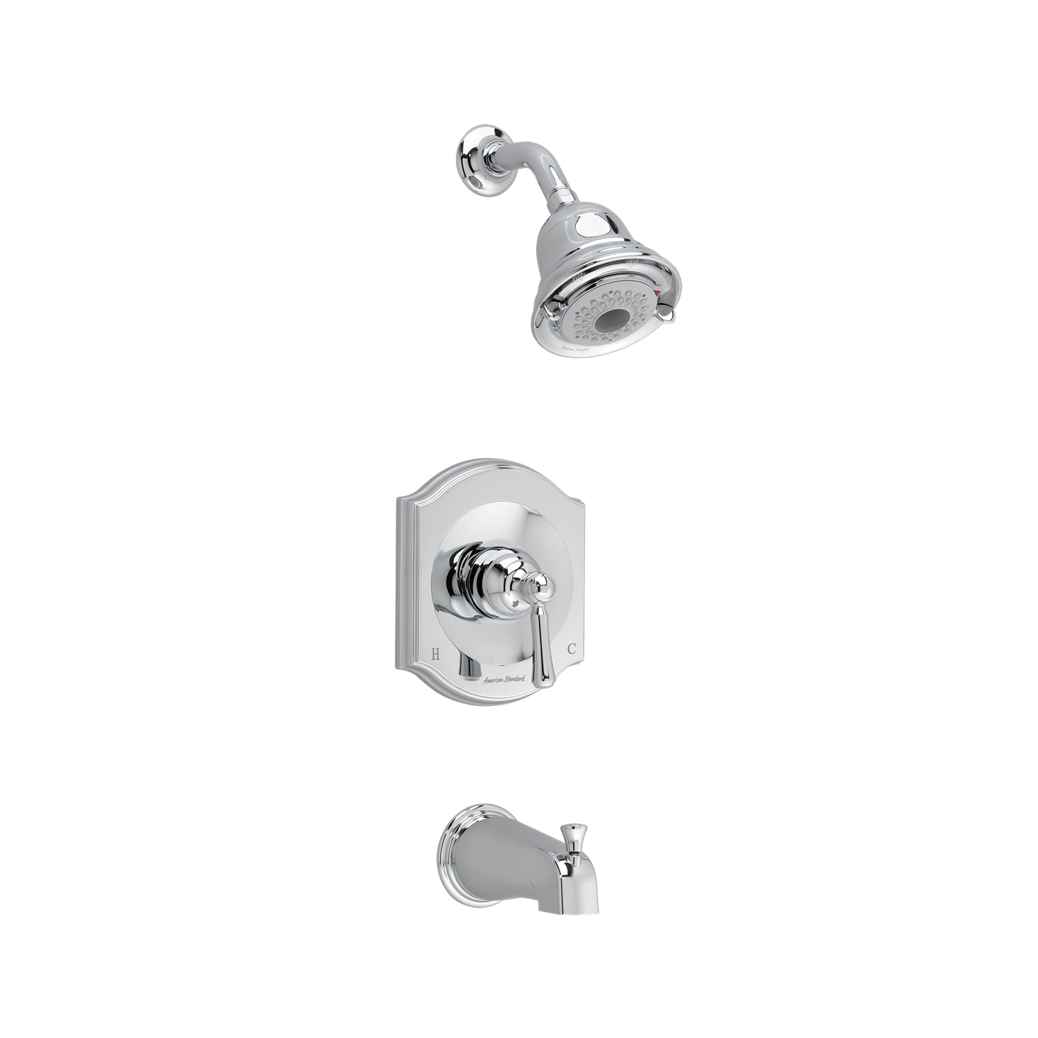 American Standard T415501.002 Portsmouth® Shower Only Trim Kit, 2 gpm Shower, Hand Shower Yes/No: No, Polished Chrome