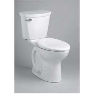 American Standard 215AA105.020 Right Height® Cadet® Pro™ Two-Piece Toilet, Elongated Bowl, 16-1/2 in H Rim, 1.28 gpf, White, Import