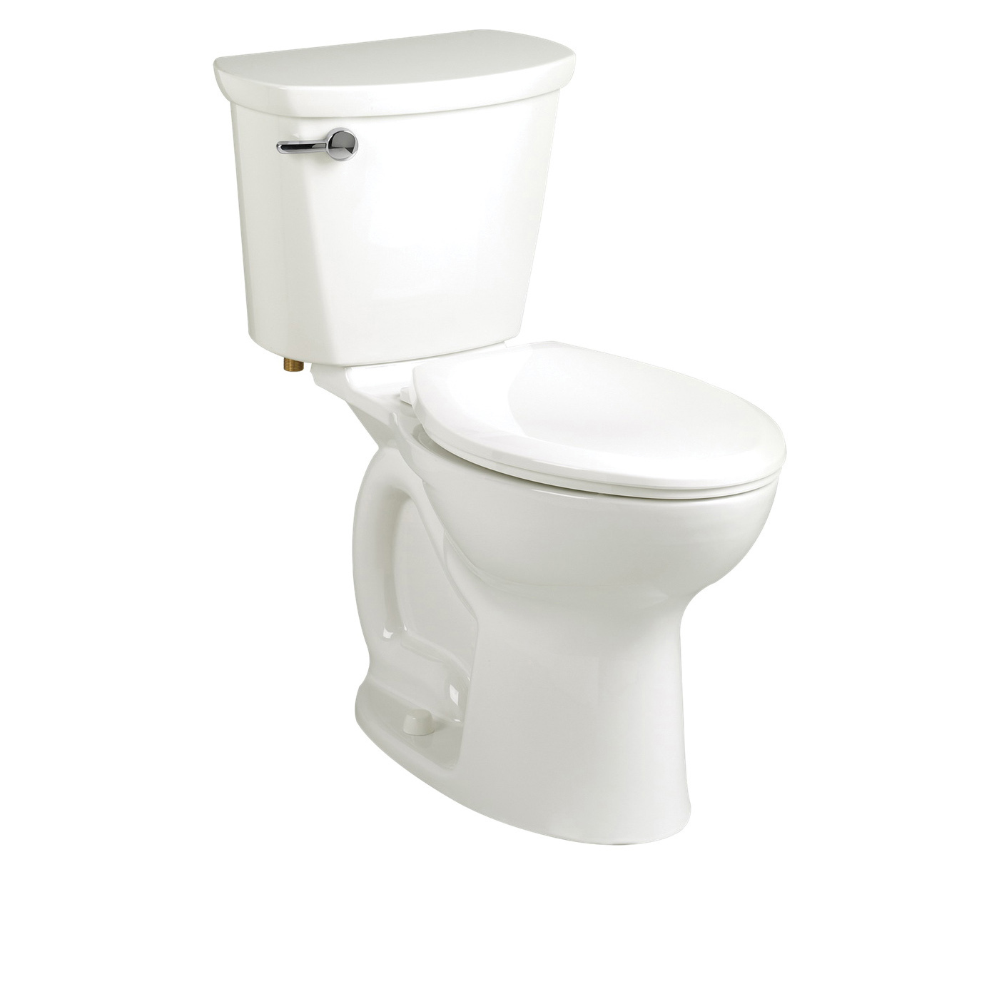 American Standard 215BA104.020 Cadet® Pro™ Right Height™ 2-Piece Toilet, Round Front Bowl, 16-1/2 in H Rim, 1.28 gpf, White, Import