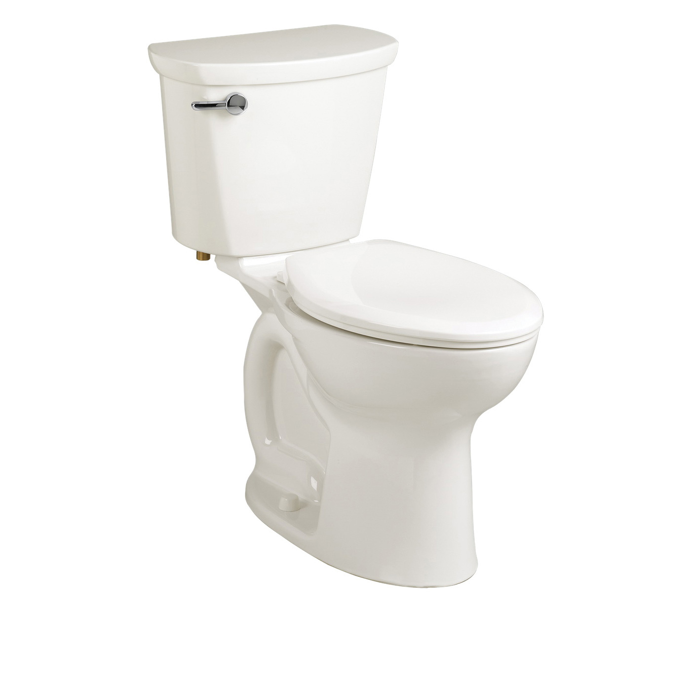 American Standard 215AB104.020 Cadet® Pro™ Right Height™ 2-Piece Toilet, Elongated Bowl, 16-1/2 in H Rim, 1.28 gpf, White, Import