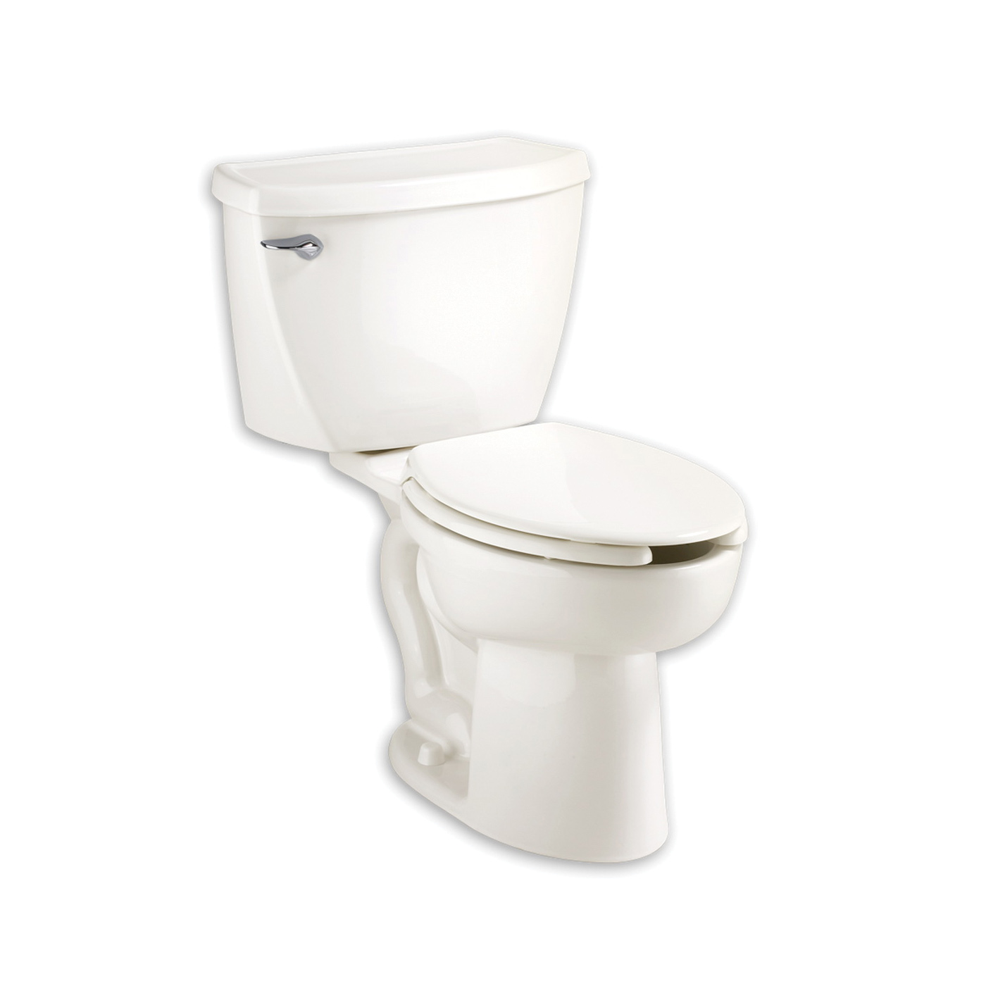 American Standard 2467.100.020 Cadet® Flowise® Right Height™ 2-Piece Toilet, Elongated Bowl, 16-1/2 in H Rim, 1.1 gpf, White, Domestic