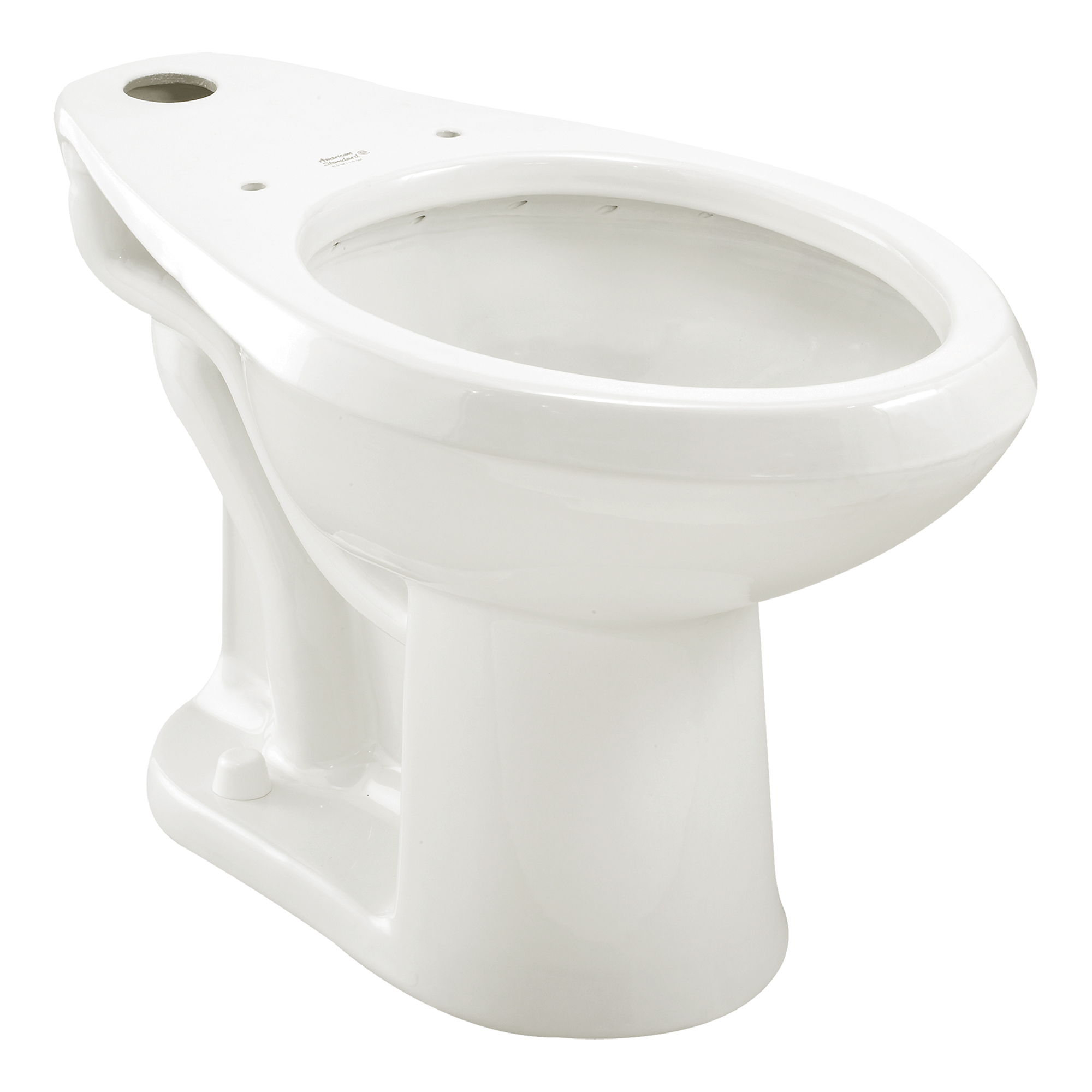 American Standard 3043.001.020 Toilet Bowl, White, Elongated, 10 or 12 in Rough-In, 16-1/2 in H Rim, 2-1/8 in Trapway, Madera™ FloWise®