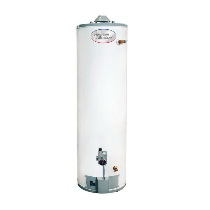 American Standard® GN40T1-3-6 GN Series Gas Water Heater, 40000 Btu/hr Heating, 40 gal Tank, Natural Gas Fuel, 38 gph Recovery, Tall, Ultra Low NOx: Yes