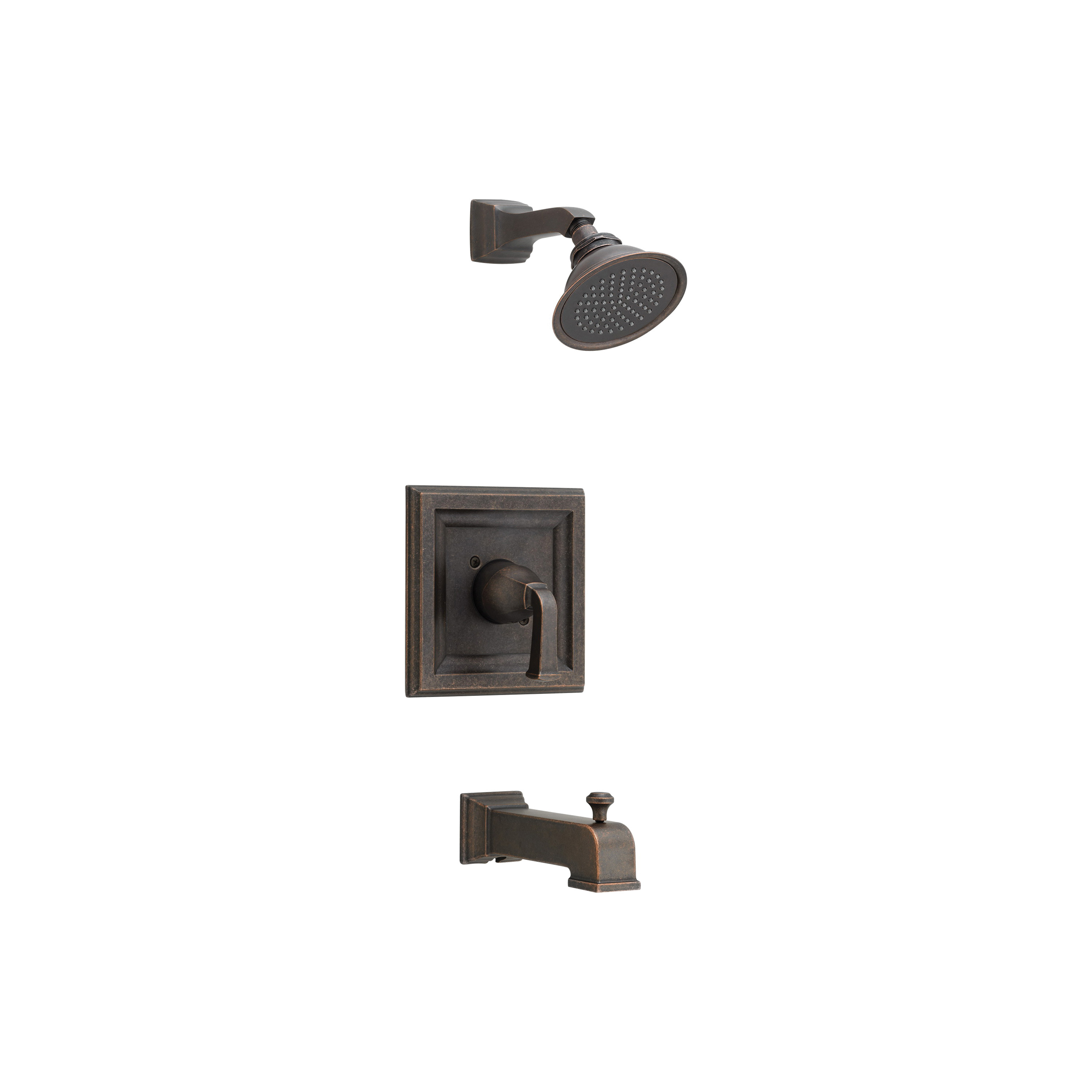 American Standard T555522.224 Town Square® Bath/Shower Trim Kit, 2.5 gpm Shower, Hand Shower Yes/No: No, Oil Rubbed Bronze