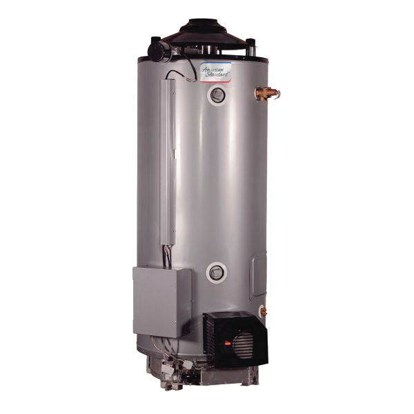 American Standard® ULN 100-270 AS Heavy Duty Gas Water Heater, 100 gal Tank, 270000 Btu/hr Heating, Natural Gas Fuel, Spark Ignition, Ultra Low NOx: Yes, ASME Yes/No: No