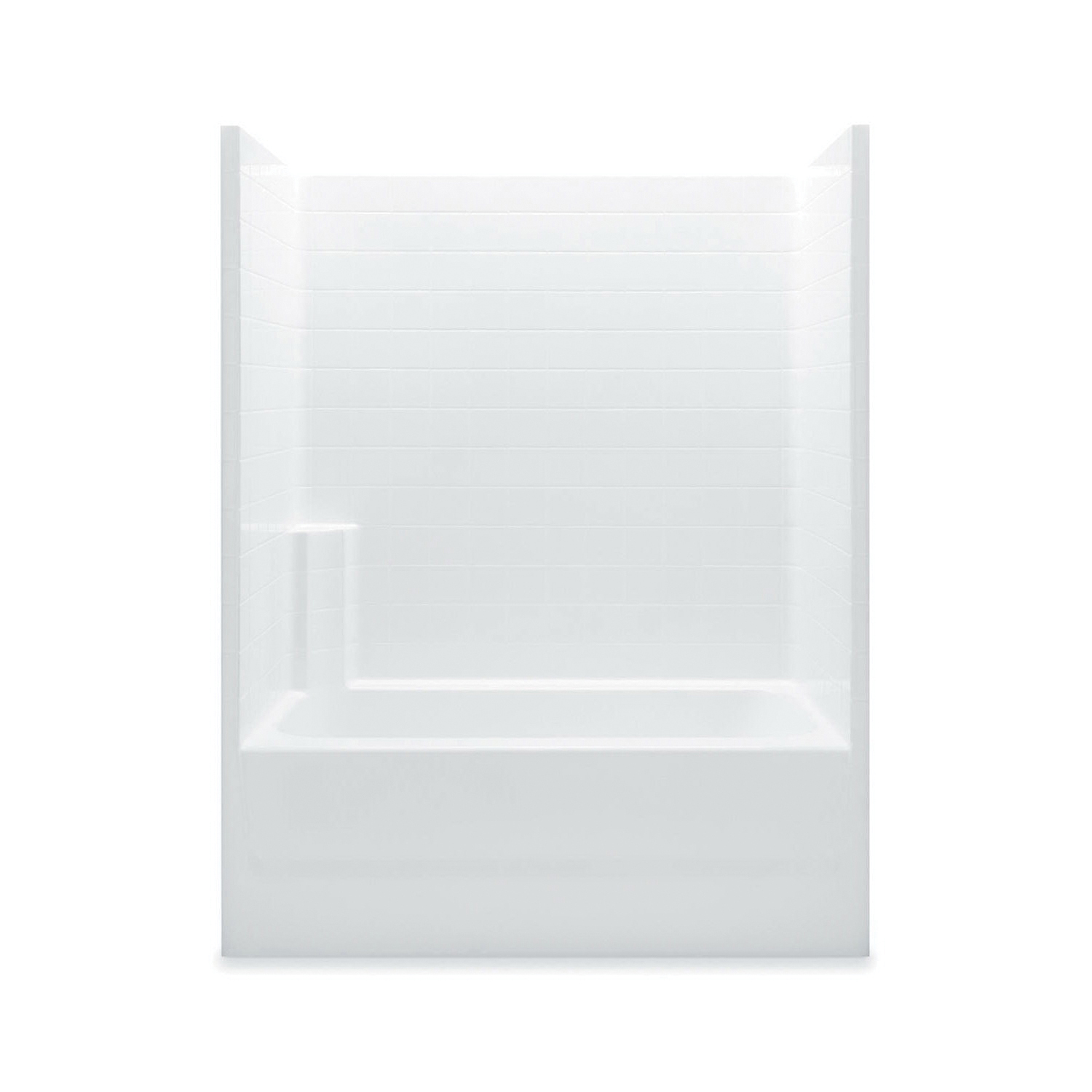 Aquatic 2603CTR-WH Everyday Tub Shower, 60 in W x 72 in H, Gel-Coated/White, Domestic