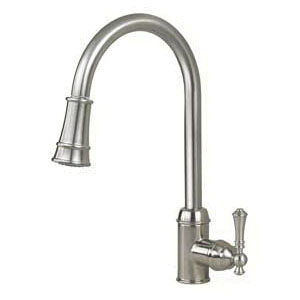 Artisan AF-410-SN Premium Contemporary Pull-Out Kitchen Faucet, 1.8 gpm, 1 Faucet Hole, Satin Nickel, 1 Handle