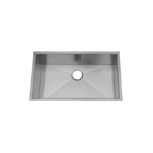 Artisan CPUZ3219-D10 Chef Pro Kitchen Sink, 30 in L x 17 in W x 10 in D Bowl, 32 in L x 19 in W, Under Mount, 304 Stainless Steel
