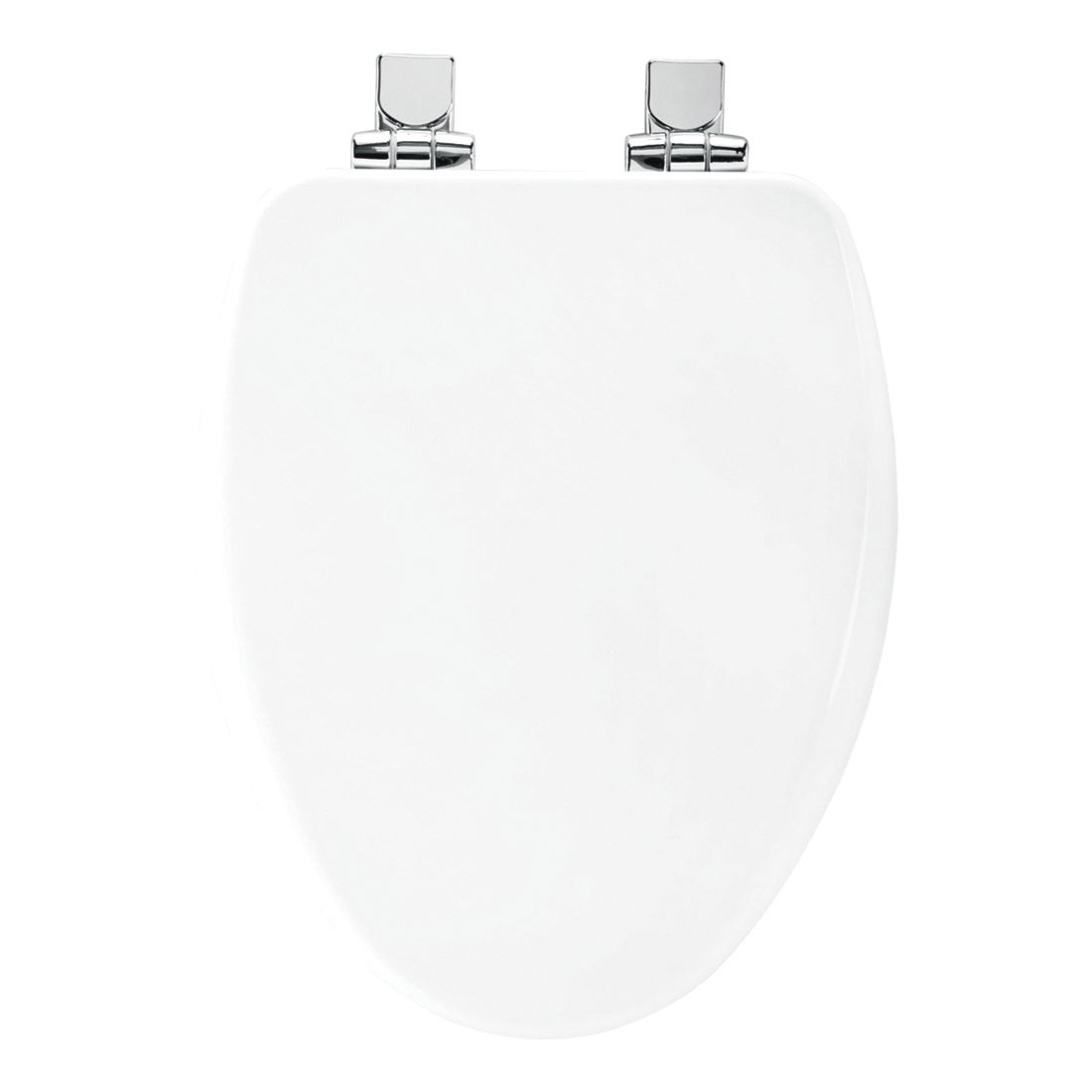 Church® 7F18170CHSL 000 ALESIO II™ Toilet Seat With Cover, Elongated Bowl, Closed Front, Wood, White, Easy Clean/Change® Hinge