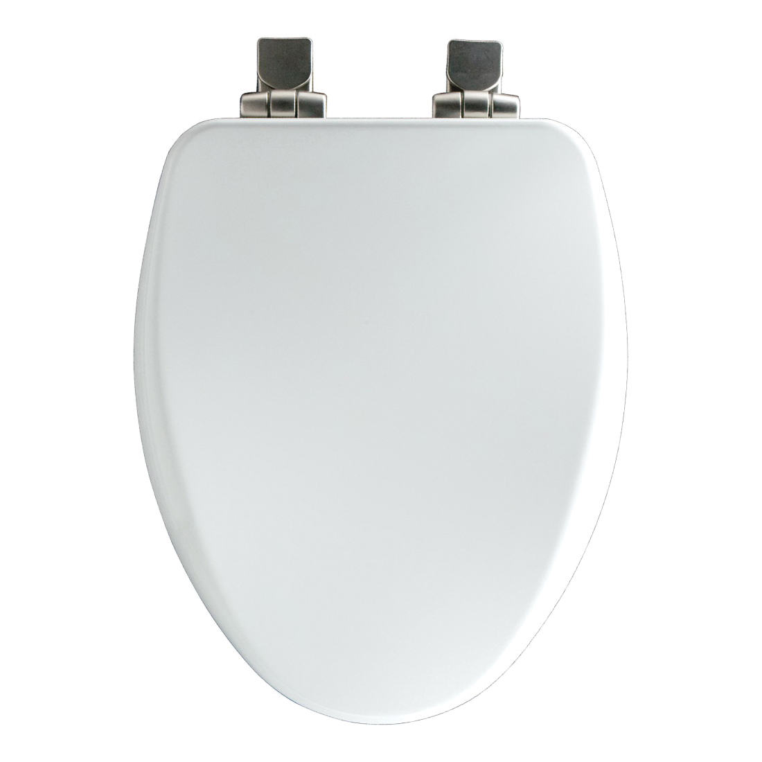 Church® 7F18170NISL 000 ALESIO II™ Toilet Seat With Cover, Elongated Bowl, Closed Front, Wood, White, Easy Clean/Change® Hinge