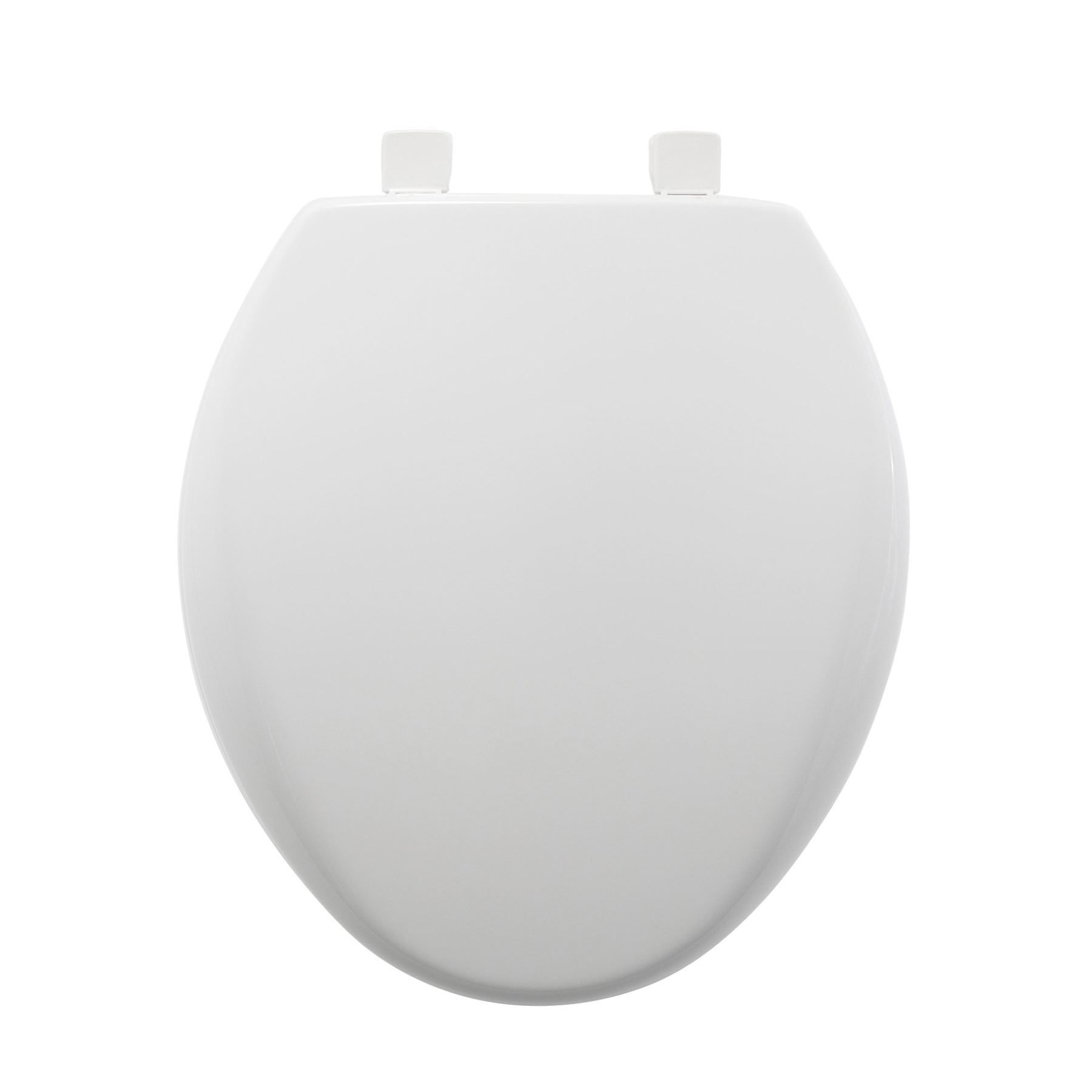 Church® 7F300E3 000 Affinity™ Toilet Seat With Cover, Round Bowl, Closed Front, Plastic, Easy Clean/Change® Precision Seat Fit™ Adjustable Hinge, White