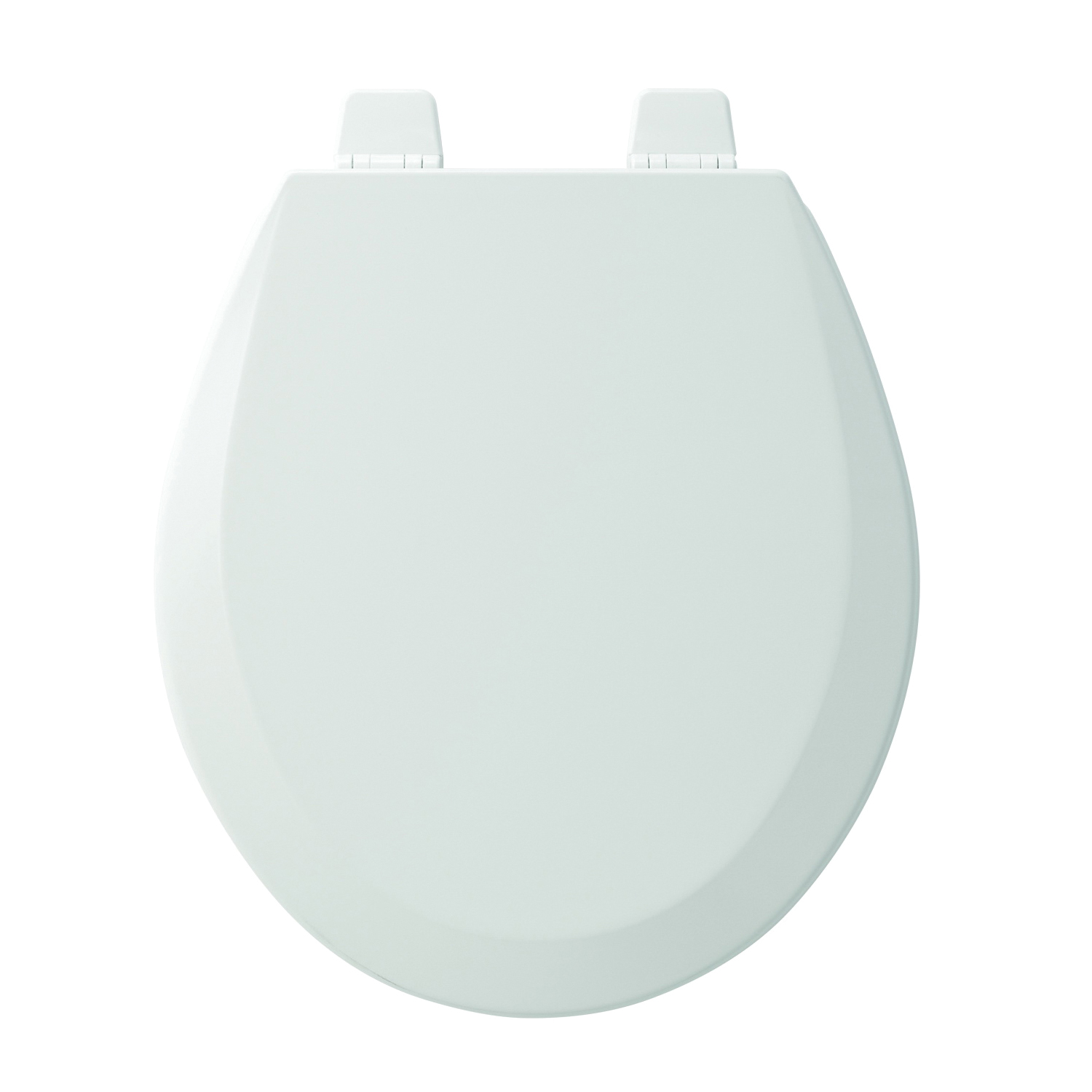 Church® 7F540TTT 000 Toilet Seat With Cover, Round Bowl, Closed Front, Wood, Adjustable Hinge, White