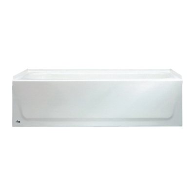 BOOTZ® 011-2672 Mapleleaf Bathtub Without Jet, 60 in W, Right Drain, White, Domestic