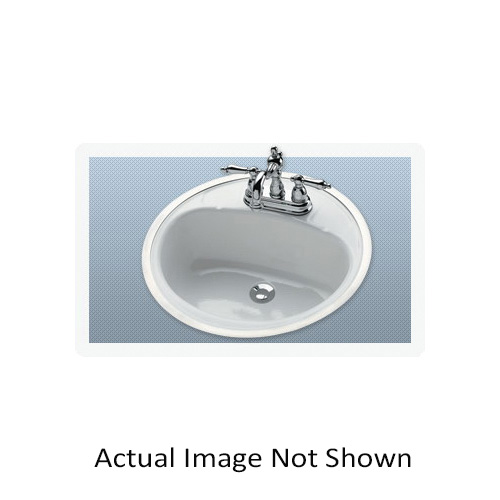 BOOTZ® 021-2430-00 Daisy Centerset Punch Lavatory Sink With Soap Depressions, Round, 4 in Faucet Hole Spacing, 7-13/16 in H, Flat Surface Mount, Porcelain/Steel, White, Domestic