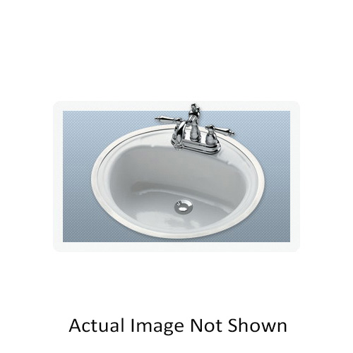 BOOTZ® 021-2440-00 Daffodil Centerset Punch Lavatory Sink, Oval, 4 in Faucet Hole Spacing, 16 in W x 7-13/16 in H, Flat Surface Mount, Porcelain/Steel, White, Domestic