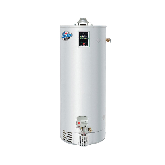 Bradford White® URG275H6N Gas Water Heater, 76000 Btu/hr Heating, 75 gal Tank, Natural Gas Fuel, Atmospheric Vent, 85 gph Recovery, Ultra Low NOx: No, Domestic