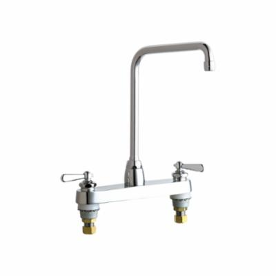 Chicago Faucet® 1100-HA8E35-241AB Hot and Cold Water Sink Faucet, 1.5 gpm, Chrome Plated