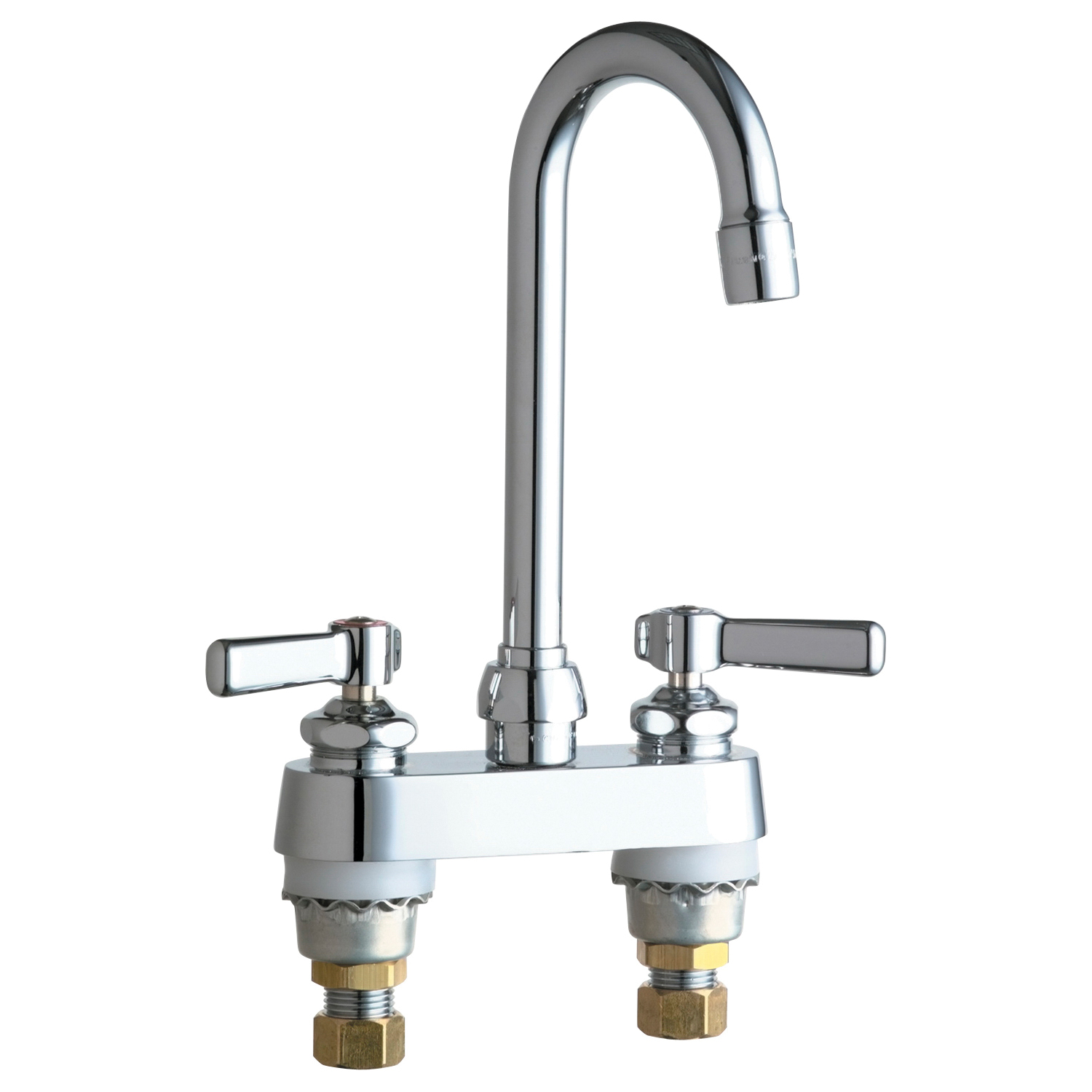 Chicago Faucet® 895-E35ABCP Lavatory Sink Faucet, Chrome Plated, 2 Handles, 1.5 gpm