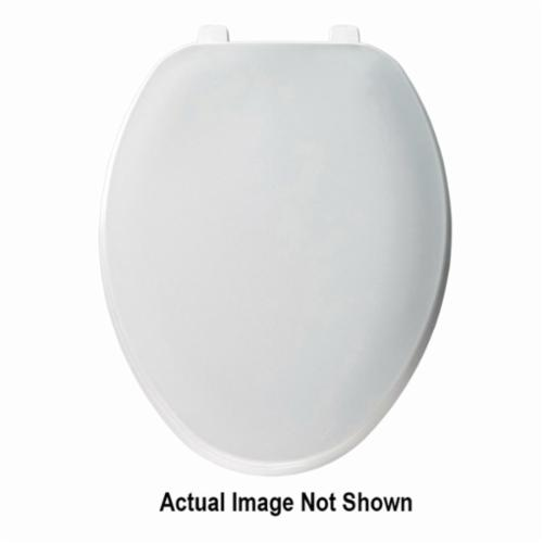 Church® 170TL 000 Heavy Duty Toilet Seat With Cover, Elongated Bowl, Closed Front, Plastic, White, Top-Tite® Hinge