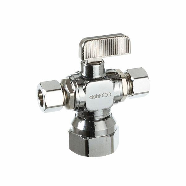 Dahl Mini-Ball Valves 611-53-31-31 Dual Outlet Valve
