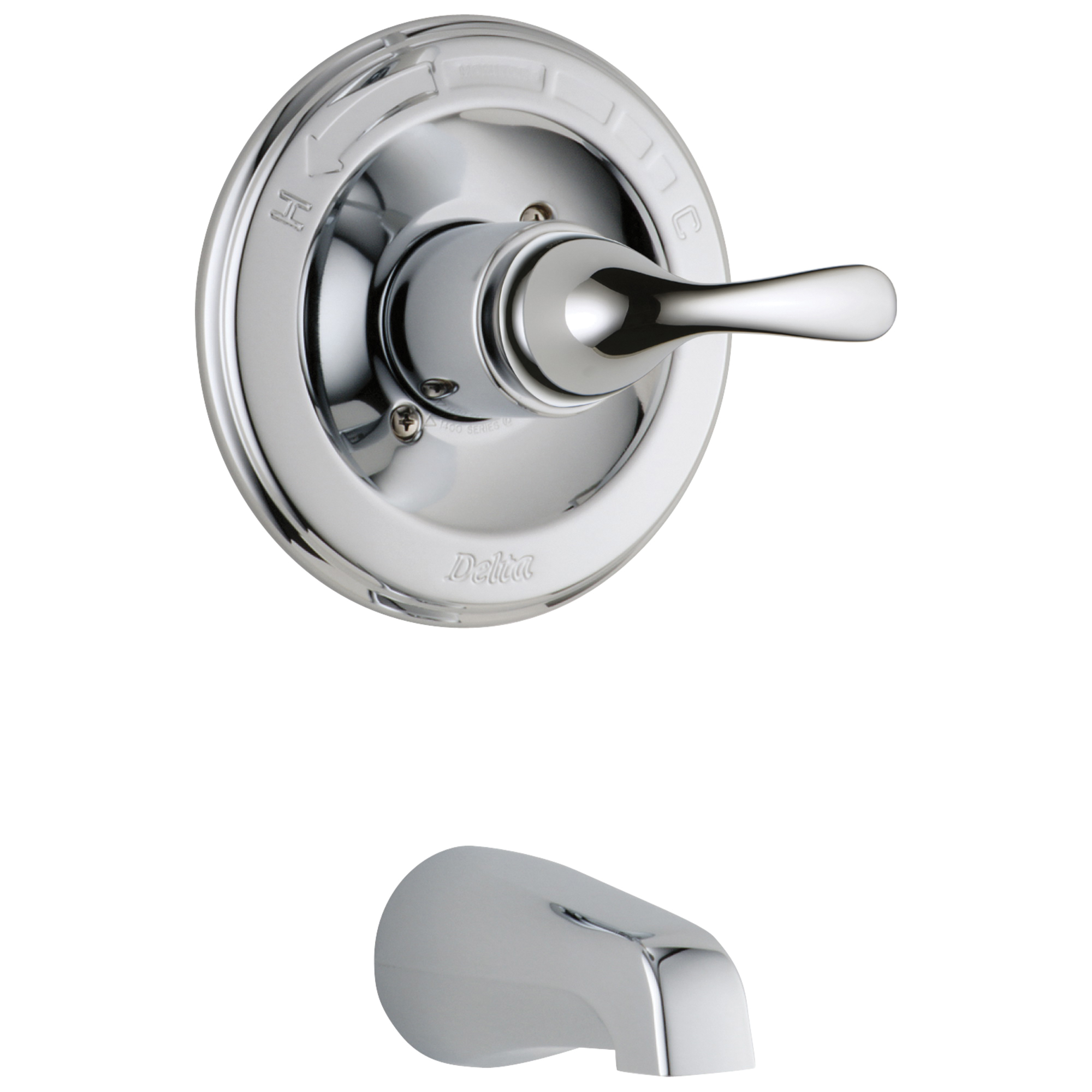 DELTA® T13120 Monitor® 13 Classic 1-Function Wall Mount Tub Trim, 7 gpm, Chrome Plated, 1 Handles, Hand Shower Yes/No: No, Domestic