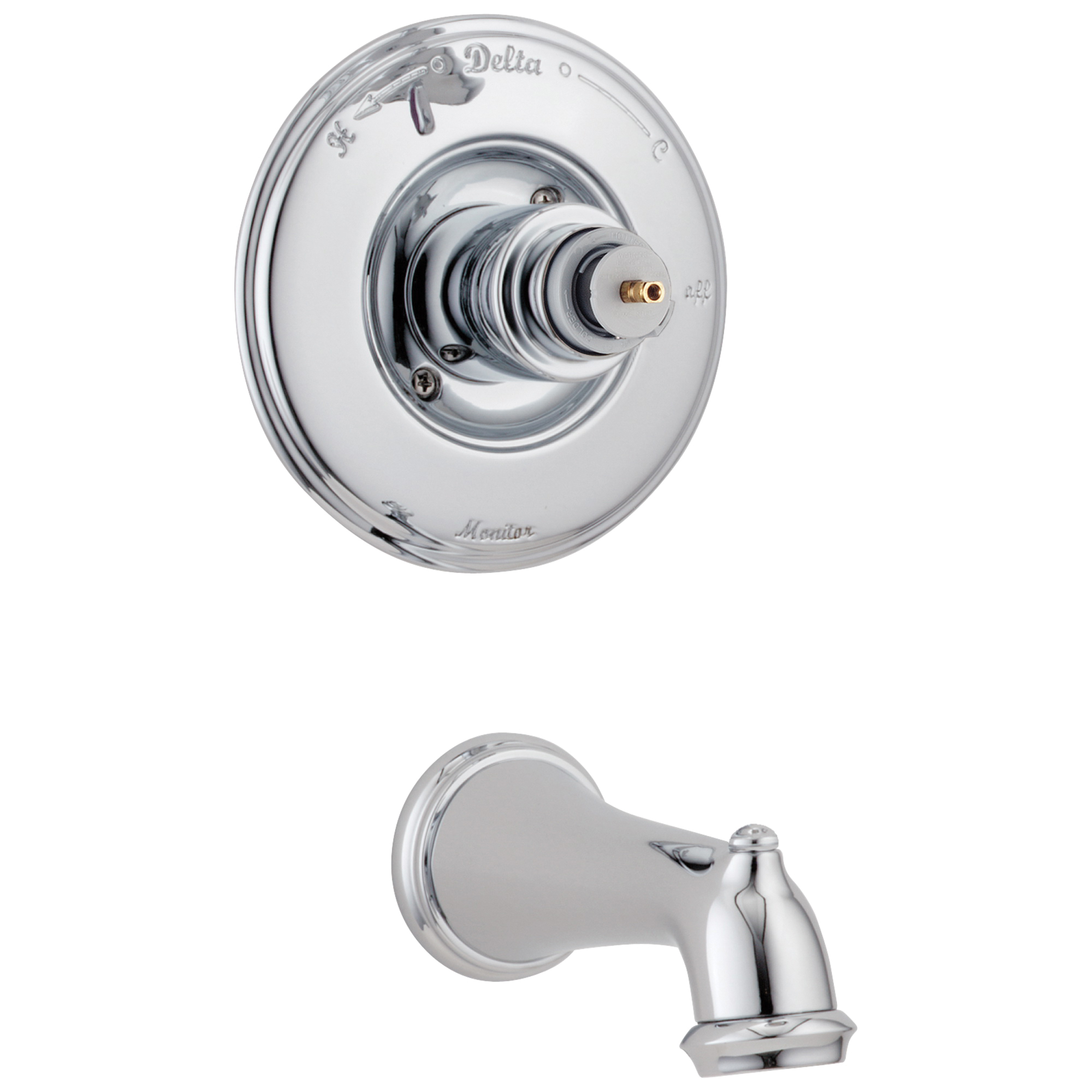 DELTA® T14155-LHP Monitor® 14 Victorian® Wall Mount Tub Trim, 7 gpm, Chrome Plated, Hand Shower Yes/No: No, Domestic, Commercial