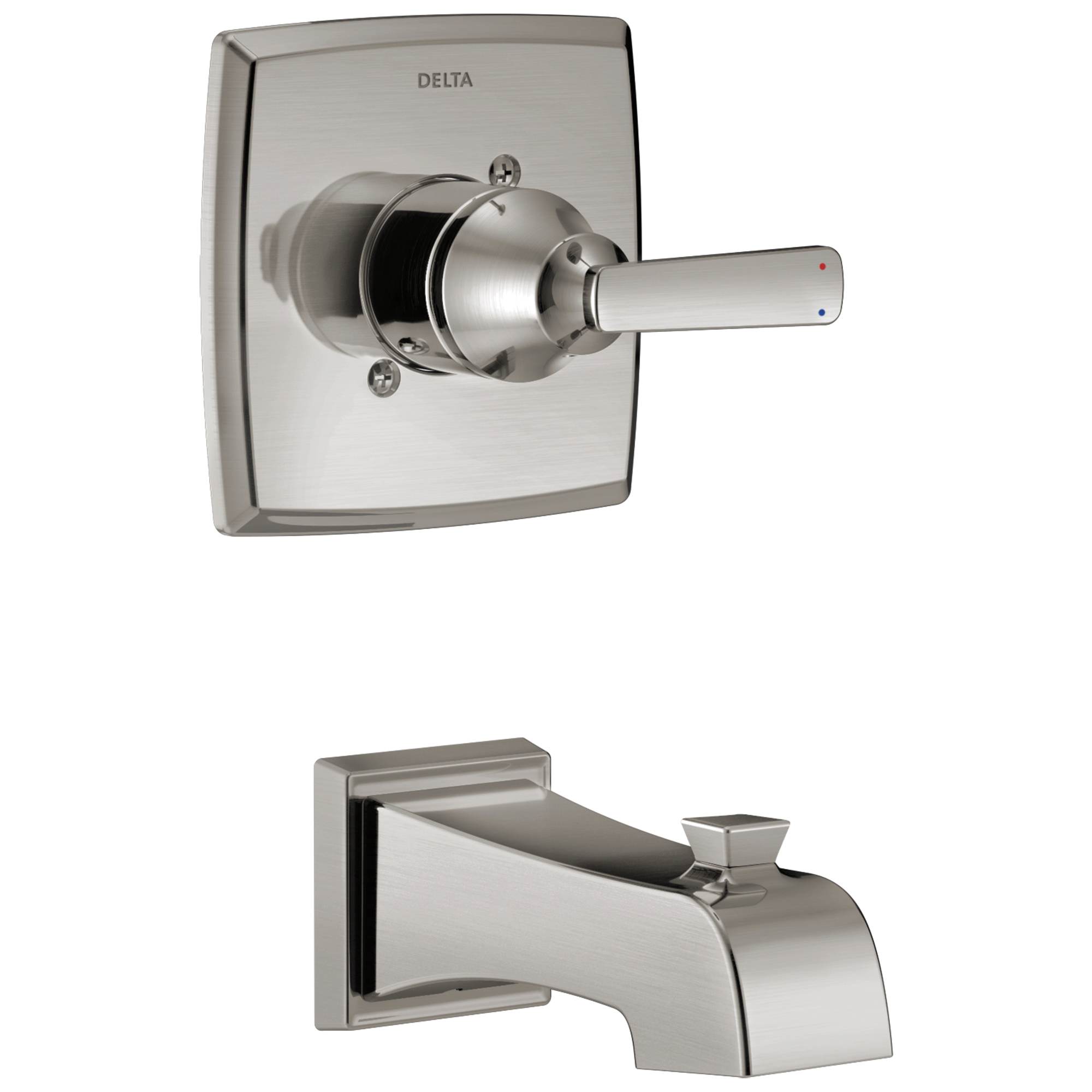 DELTA® T14164-SS Monitor® 14 Ashlyn® 1-Function Wall Mount Tub Trim, Brilliance® Stainless Steel, 1 Handles, Hand Shower Yes/No: No, Domestic, Commercial