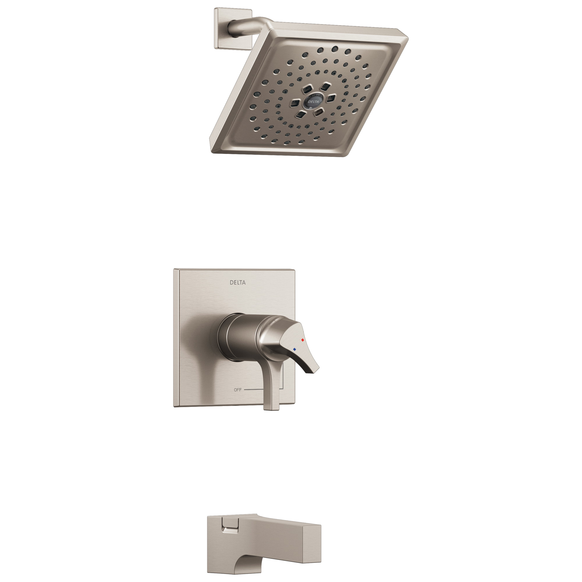 DELTA® T17T474-SS TempAssure® 17T Tub and Shower Faucet Trim, 1.75 gpm Shower, Hand Shower Yes/No: No, Brilliance® Stainless Steel