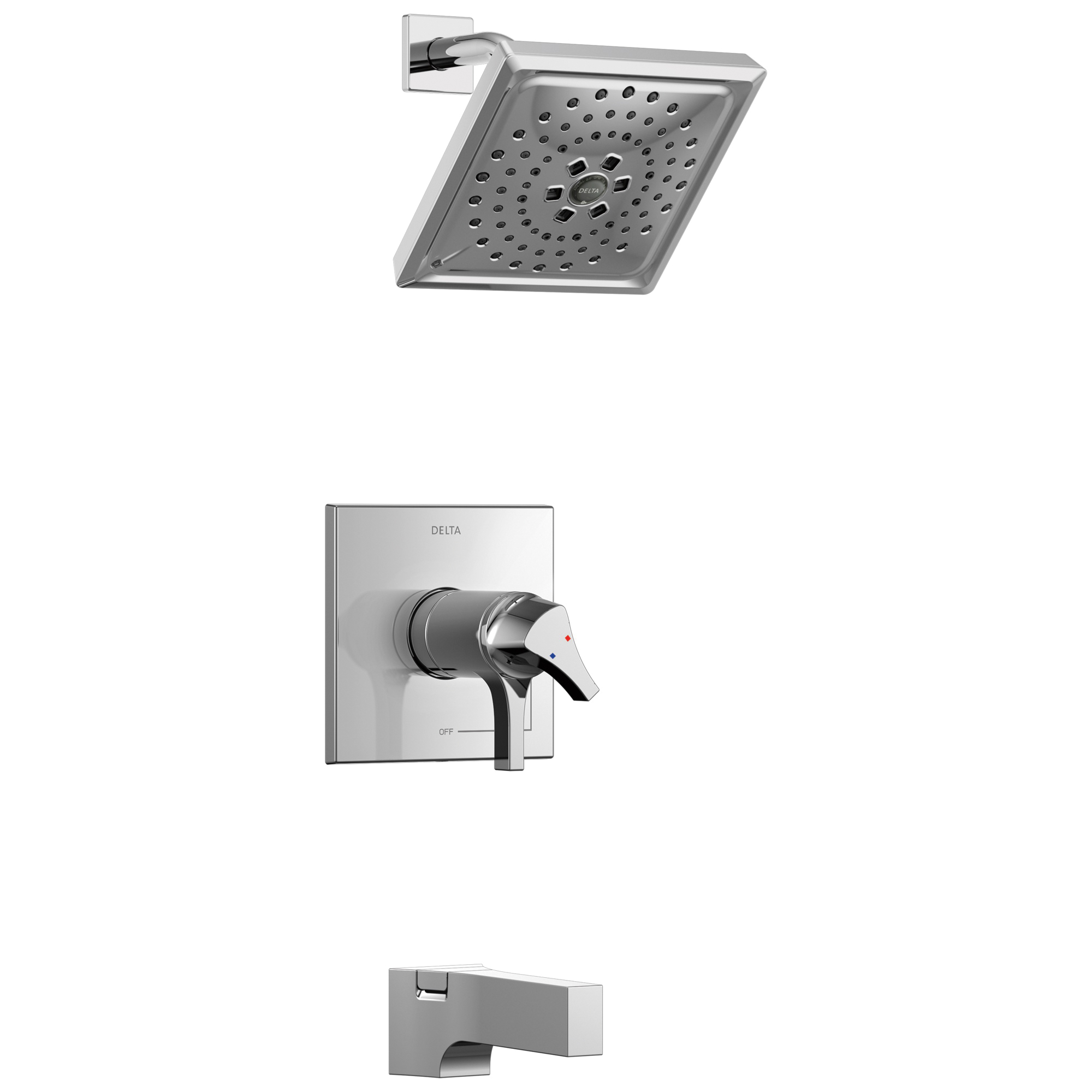 DELTA® T17T474 TempAssure® 17T Tub and Shower Faucet Trim, 1.75 gpm Shower, Hand Shower Yes/No: No, Chrome Plated