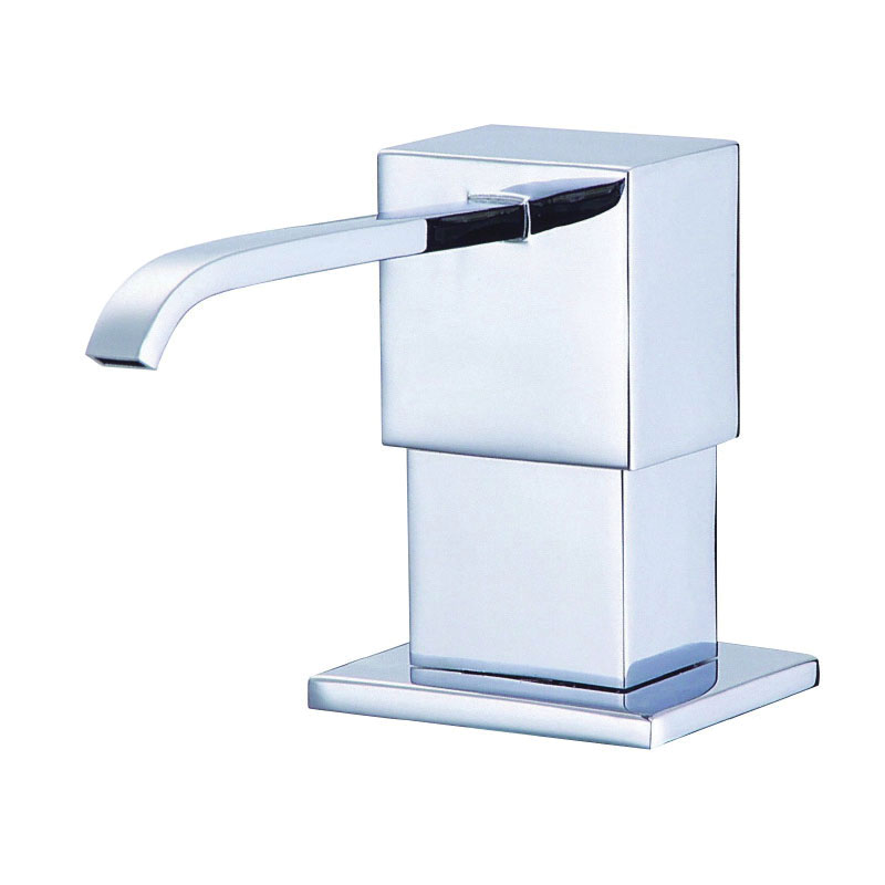 Danze® D495944 Sirius® Soap and Lotion Dispenser, Deck Mount, Solid Brass, Chrome Plated