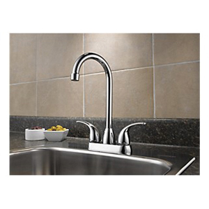 Peerless® P288LF Bar/Prep Faucet, 1.8 gpm, Chrome Plated, 2 Handles, Domestic