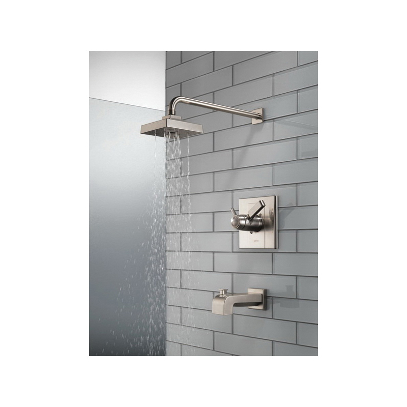 DELTA® T17T486-SS TempAssure® 17T Tub and Shower Trim, 2 gpm Shower, Hand Shower Yes/No: No, Stainless Steel