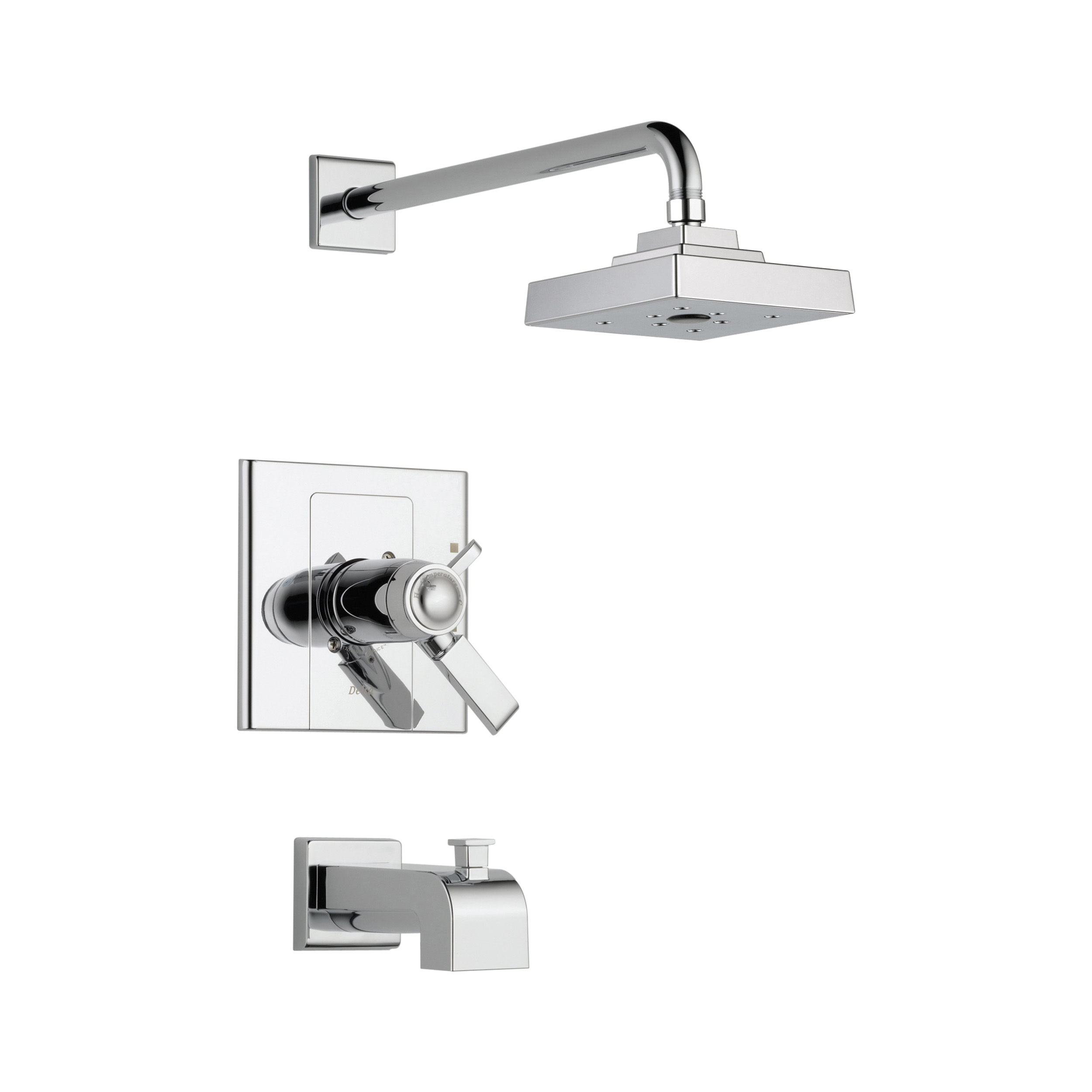 DELTA® T17T486 TempAssure® 17T Tub and Shower Trim, 2 gpm Shower, Hand Shower Yes/No: No, Chrome Plated