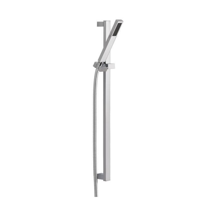 DELTA® 57530 Vero® Premium Hand Shower, (1) Shower Head, 2 gpm, 60 to 82 in L Hose, 1/2-14 NPSM, Slide Bar: Yes, Chrome Plated, Import