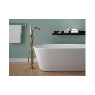 DELTA® T4759-CZFL Trinsic®/Compel® Contemporary Tub Filler Trim, 6, Brilliance® Champagne Bronze, 1 Handles, Hand Shower Yes/No: Yes, Domestic