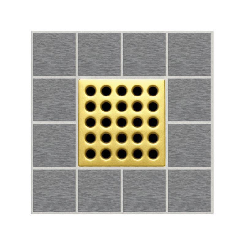 Ebbe America E4402 Shower Drain Grate, Square Pattern, 3.16 sq-in, 11 gpm, Stainless Steel/Polycarbonate