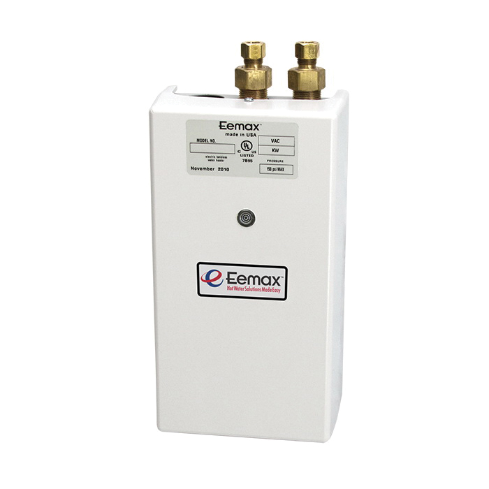 Eemax™ SP55 One™ Single Point Electric Tankless Water Heater With (1) Aerator, 240 VAC, 5500 W, 1 ph, 3/8 in Compression Water, 23 A, Commercial/Residential/Dual: Commercial