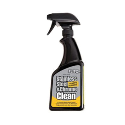 Flitz® SP 01506 Stainless Steel and Chrome Cleaner, 16 oz Spray Bottle, Liquid, Colorless to Slight Amber, Mild