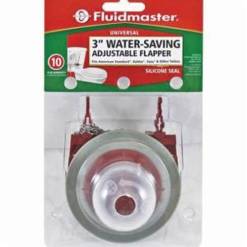 Fluidmaster® 5403 Universal Adjustable Toilet Flapper, Rubber, Red, Domestic