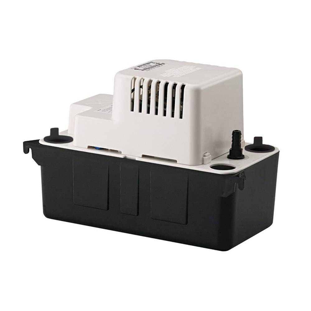 Little Giant® 554401 VCMA-15 Automatic Condensate Removal Pump, 65 gph, 3/8 in OD Barbed Outlet, 15 ft Shutoff Head, 60 W
