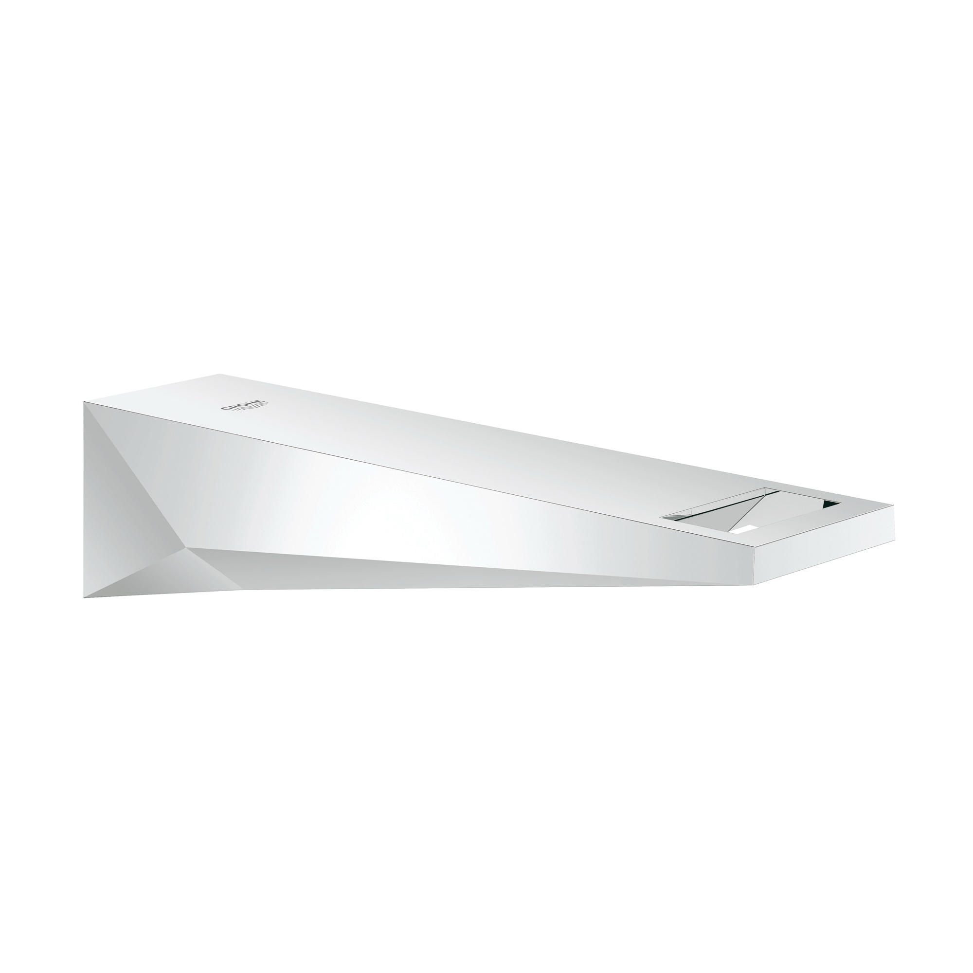 GROHE 13300000 Allure Brilliant Wall Mount Tub Spout With Integrated Flow Control, 6-3/8 in L, 1/2 in FNPT Connection, StarLight® Chrome Plated, Import