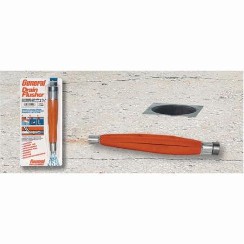 General Pipe Cleaners 4DFH Narrow Profile Drain Flusher, 4 in, For Use With Drain Garden Hose, Nylon, Orange