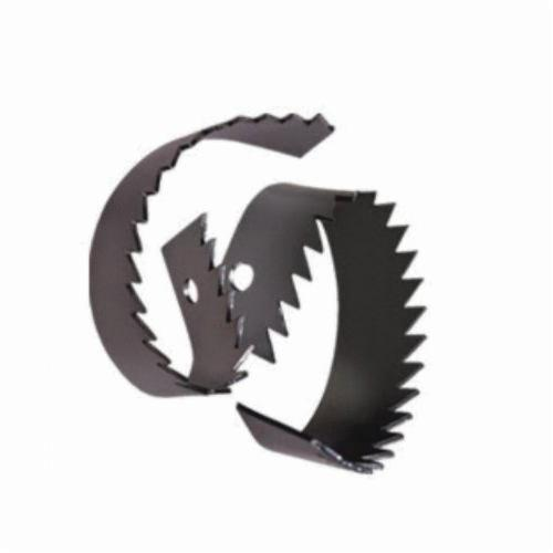 General Pipe Cleaners 3RSB Rotary Saw Blade, 3 in, Steel, For Use With 1/2, 9/16, 5/8 and 3/4 in Cable, Black