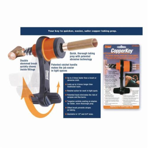 General Pipe Cleaners CK-34 Ratchet Handle, For Use With 3/4 in Copper Tubing