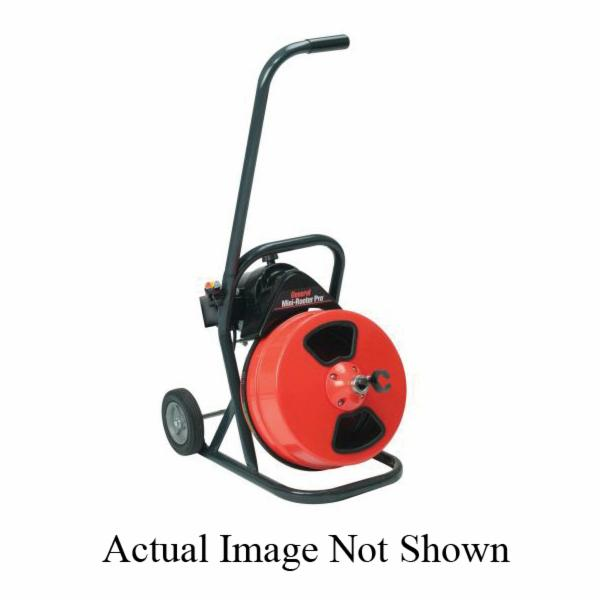 General Pipe Cleaners Mini-Rooter Pro® MRP-B Drain Cleaning Machine Unit With Cable and Cutter Set, 1/3 hp