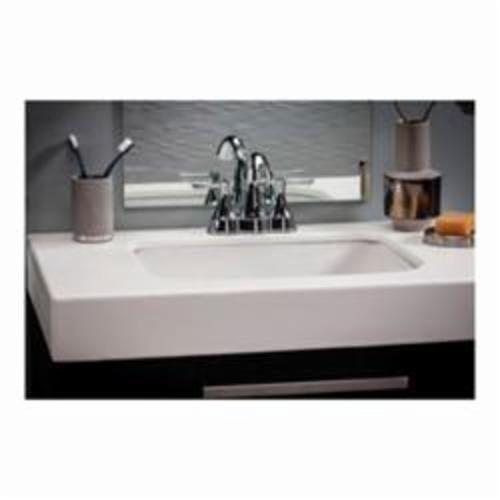 Gerber® 12-760-09 Logan Square™ Standard Bathroom Sink With Consealed Front Overflow, Rectangular, 20-1/2 in W x 17-1/8 in D x 7-5/8 in H, Undercounter Mount, Vitreous China, Biscuit