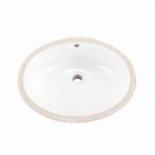 Gerber® 12-770 Luxoval™ Petite Bathroom Sink With Rear Overflow, Oval, 18-1/2 in W x 15-3/8 in D x 7-5/8 in H, Under Mount, Vitreous China, White