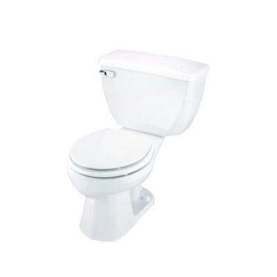 Gerber® 21-302 Ultra Flush® 2-Piece Combination Pressure Assist Toilet, Round Front Bowl, 14-1/4 in H Rim, 1.6 gpf, White, Import