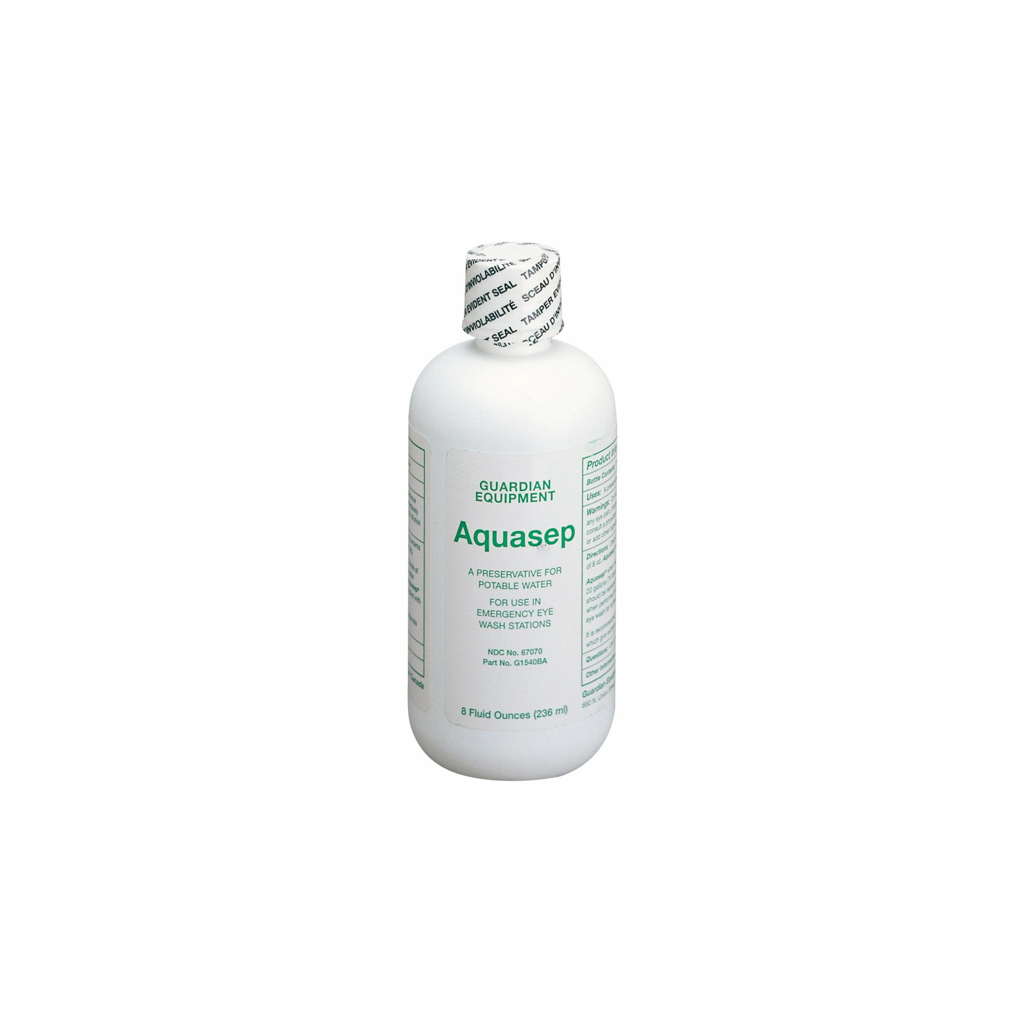 Guardian AquaGuard™ G1540BA Bacteriostatic Additive, 8 oz Bottle, For Use With Model G1540 16 gal Gravity-Flow Portable Eyewash
