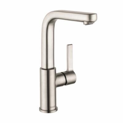 Hansgrohe 31161821 Tall Bathroom Faucet, Metris S, 1.2 gpm, 8-7/8 in H Spout, 1 Handle, Pop-Up Drain, 1 Faucet Hole, Brushed Nickel, Function: Traditional, Commercial